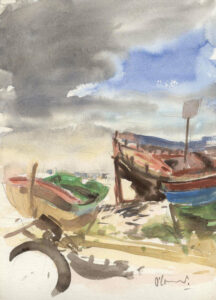 Abandoned boats, Algarve
