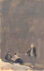Gypsies, Oil on Canvas, 30 x 16 cm
