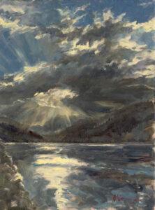 Nocturne, Douro, Oil on Canvas, 40 x 30 cm
