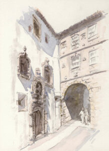 Archway, Coimbra, Pencil and Wash, 21 x 15 cm