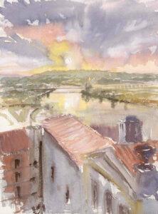 Dawn over the Mondego, Coimbra