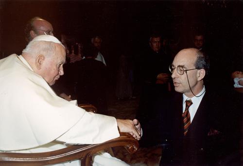 John O'Connor with Pope John Paul II