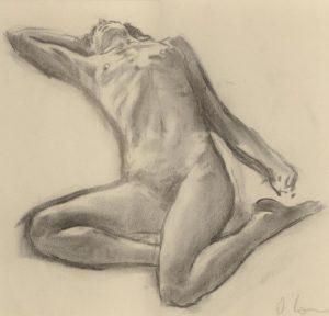 Nude 2, Charcoal, 25 x 35 cm