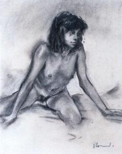 Nude 3, Charcoal, 40 x 30 cm