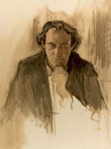 Garry O'Connor, Monochrome study in oils, 100 x 75 cm
