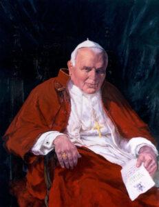 Pope John Paul II, Oil on canvas, 100 x 75 cm