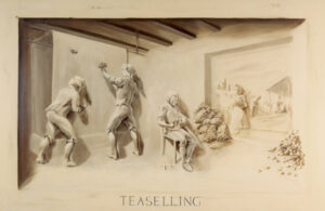 Trompe l'oeil mural – Teaselling