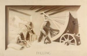 Trompe l'oeil mural – Tentering