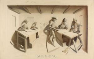 Trompe l'oeil mural – Shearing