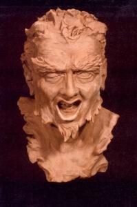Satyr's Head, Clay, Height 30 cm