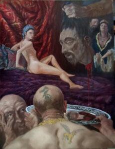 Salome, Oil on canvas, 90 x 70 cm